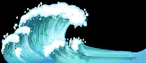 海浪插画中国风