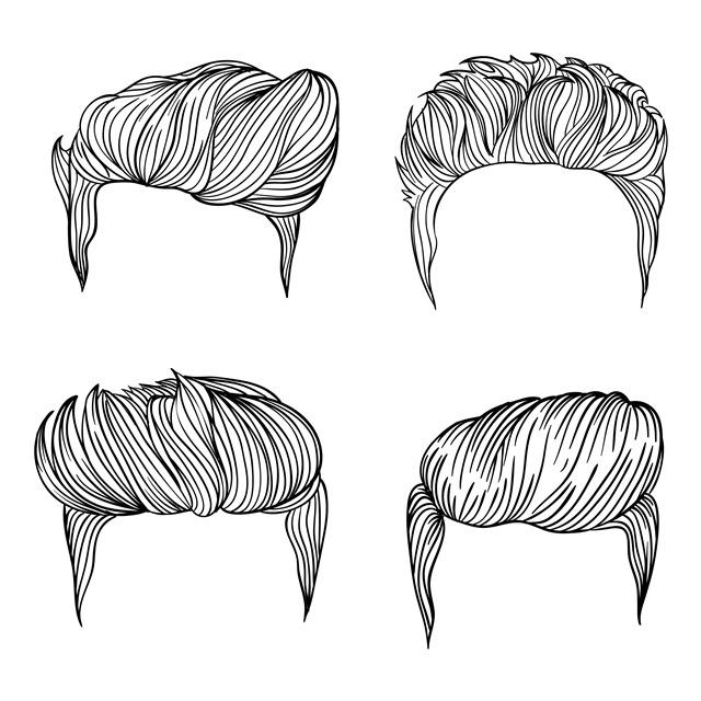男士发型素材