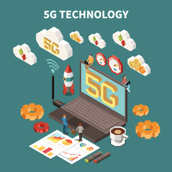 5G技术创意矢量图