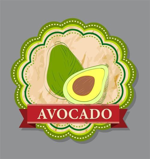 牛油果图案logo