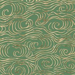 绿色烫金纹理背景