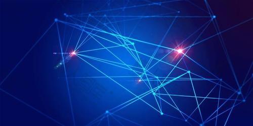 科技感蓝色几何背景图片
