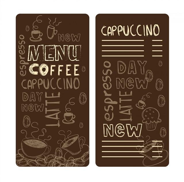 咖啡菜单vi设计