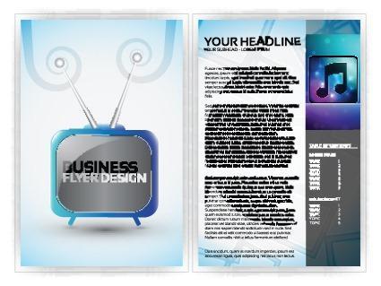 音乐公司企业宣传册模板