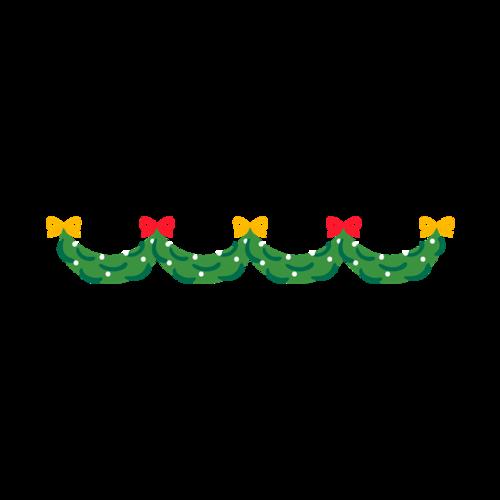 绿色卡通圣诞节装饰品图片