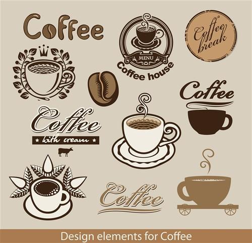 咖啡标志图案图片