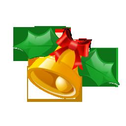 圣诞节蝴蝶结铃铛png图标
