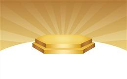 金色舞台活动促销展台背景