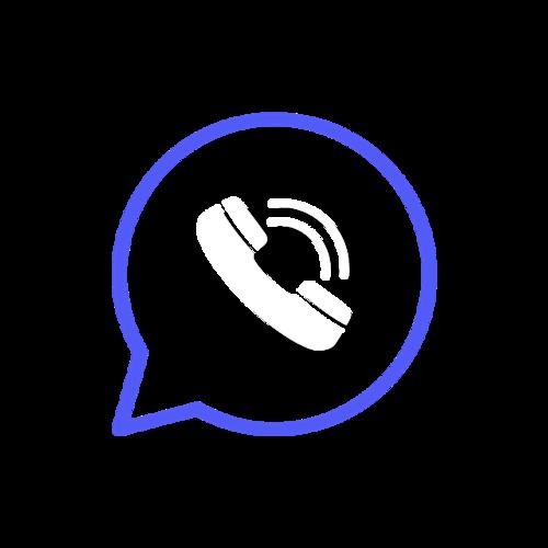蓝色经典电话图标图片
