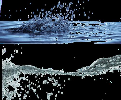 飞溅的水花