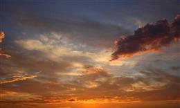 唯美黄昏美景图片