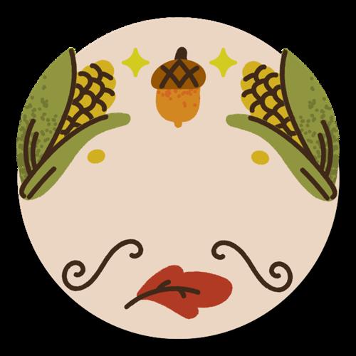 原创手绘感恩节玉米创意插画