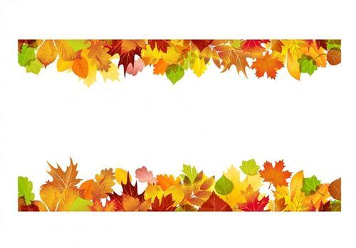 感恩节枫叶树叶边框装饰图片
