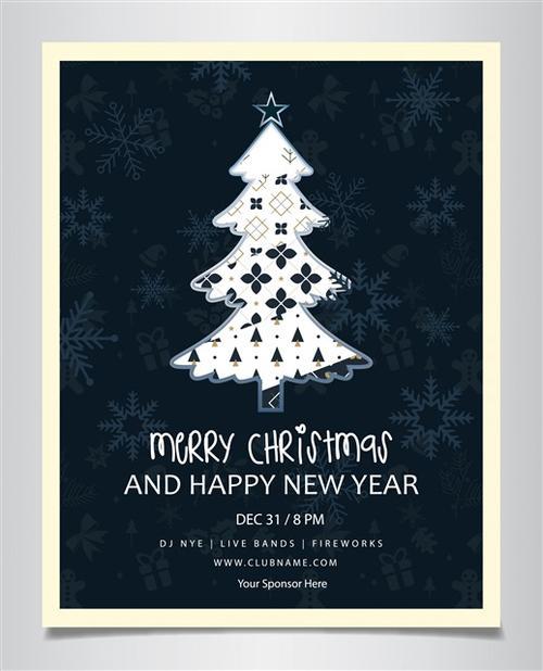 圣诞节快乐明信片