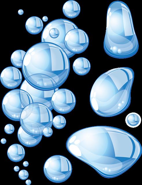 蓝色水珠素材