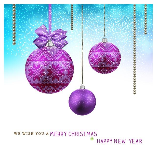 圣诞节日彩球挂饰