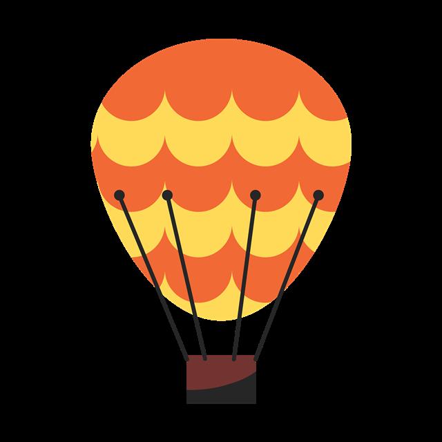 彩色卡通热气球