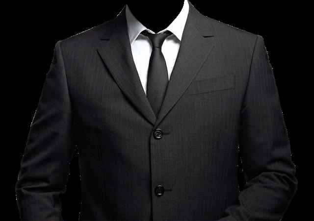 男士黑西服正装照模板
