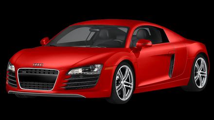 最新款红色奥迪r8