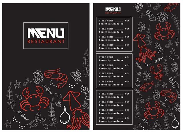 海鲜店菜单模板