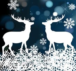 麋鹿图案圣诞节背景图高清