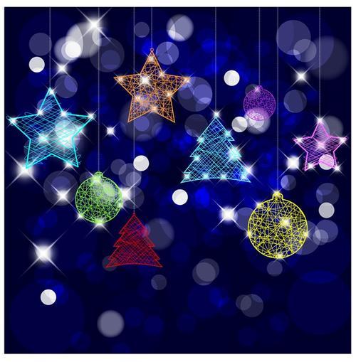 彩色星星圆球挂饰