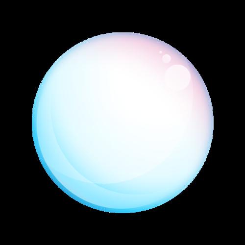 七彩渐变气泡漂浮元素