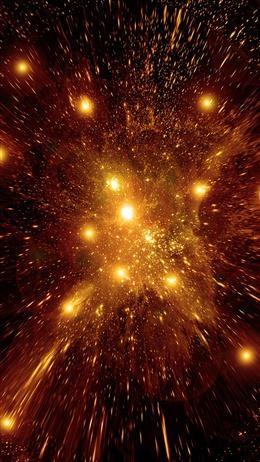 金色粒子星空震撼科技背景