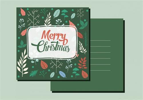 圣诞节明信片模板