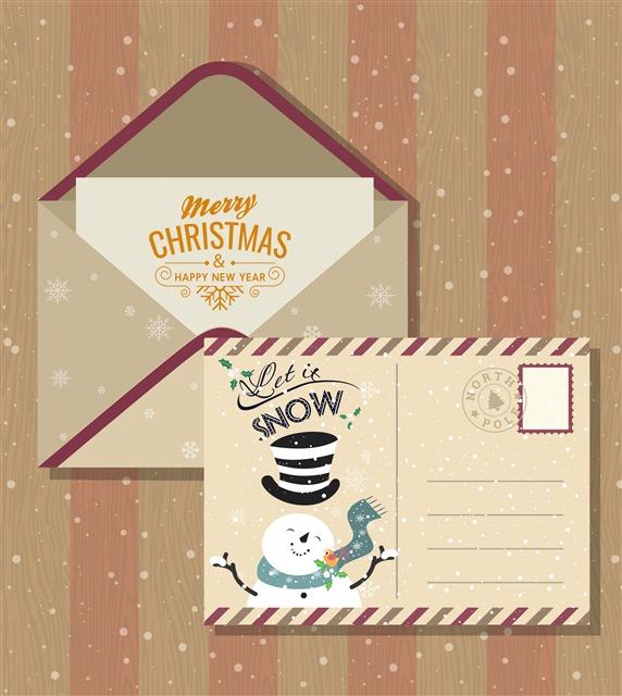 平安夜圣诞节明信片寄语模板
