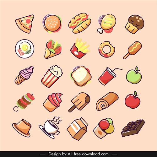 食物符号卡通小图标图片