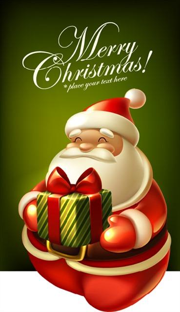 可爱圣诞节圣诞老人插画