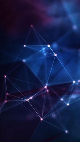 点线连接蓝色科技背景图片