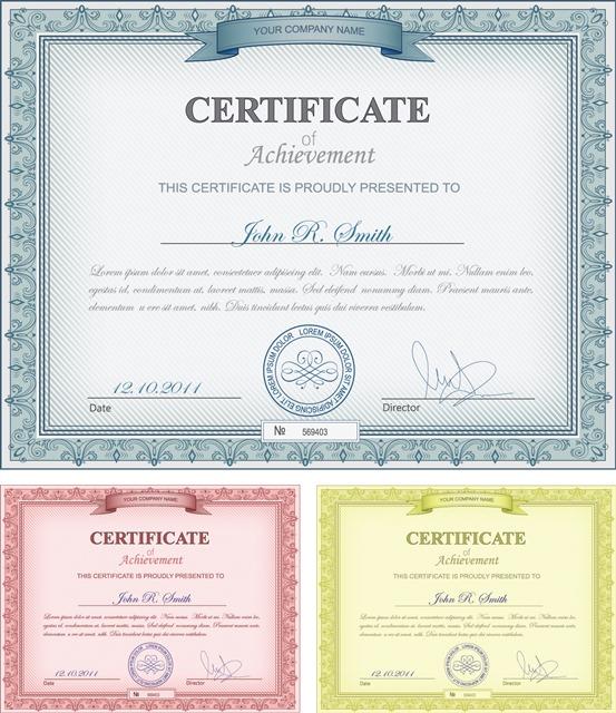 个人荣誉证书模板图片