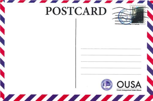 明信片背面格式图片