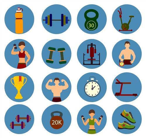 健身图标图案