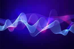 科技波浪曲线背景
