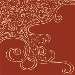 中国红烫金图片