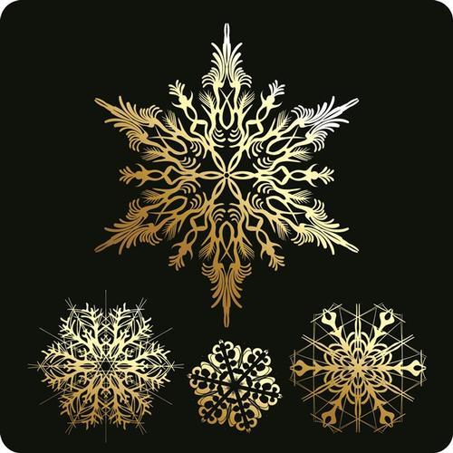 雪花图案冬季圣诞节免抠背景