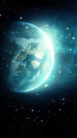 地球星空震撼科技背景图片