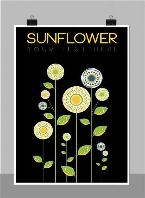 向日葵植物花卉装饰画