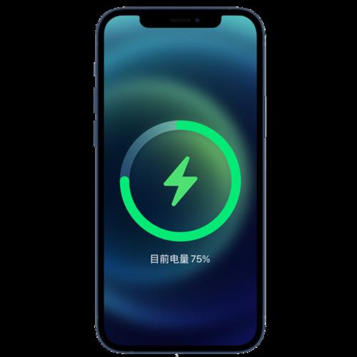 iPhone12小清新充电页面