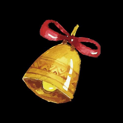 手绘矢量圣诞节铃铛图片