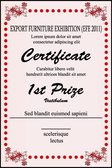 荣誉证书电子模板