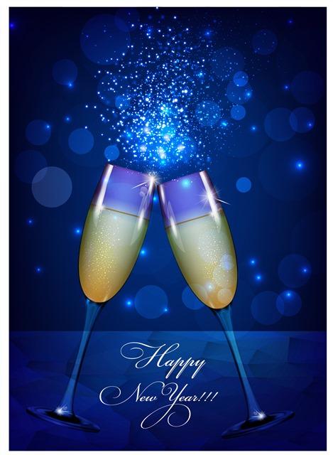 新年快乐香槟庆祝背景图片