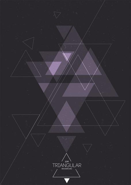 艺术几何黑色背景图