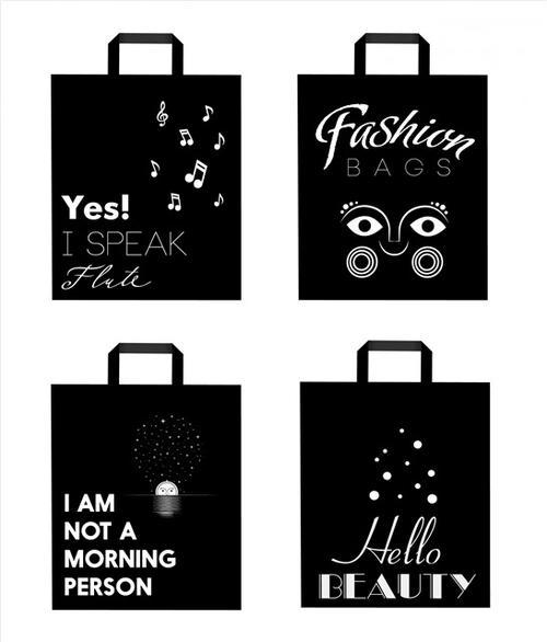 时尚精品店购物袋设计