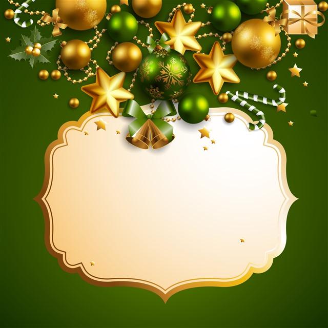 圣诞节贺卡背景矢量图片