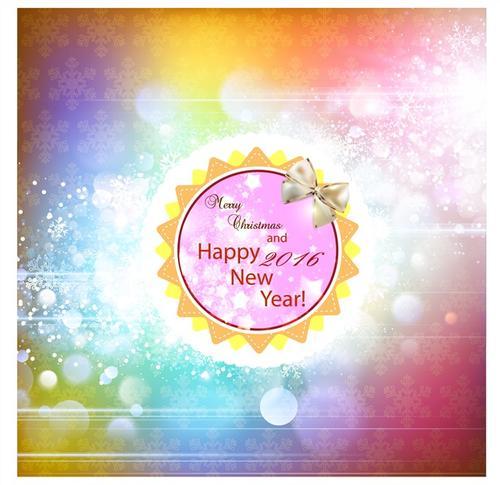 彩色新年背景插画装饰图片
