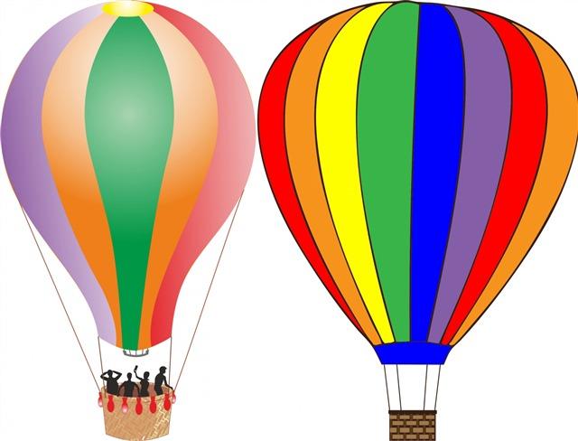 3D卡通热气球